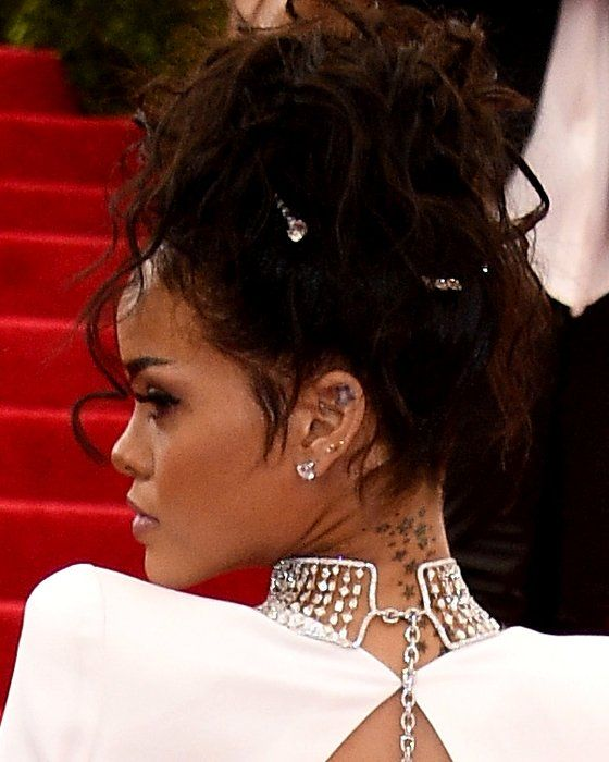 Pictures 2014 Met Gala Celebrity Hairstyles Rihanna