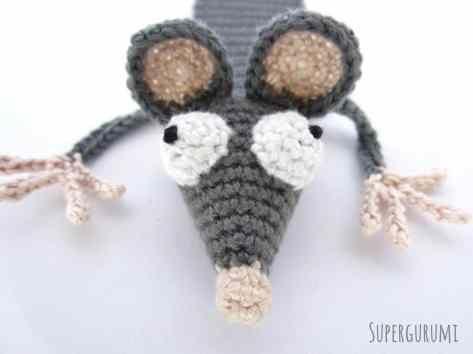 Amigurumi Sew Rat Eyes