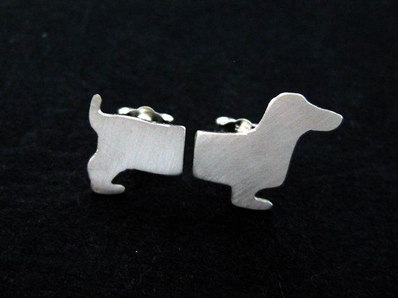 Sterling Silver Dachshund Earrings  Wiener Dog by OffbeatMelody, $29.00