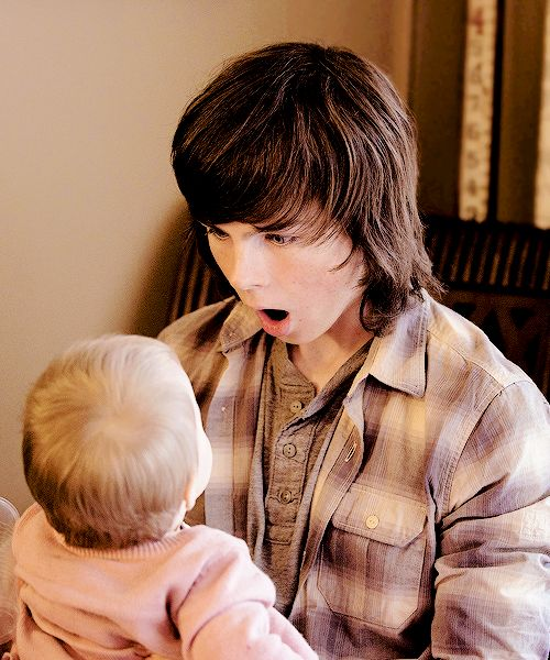 Chandler Riggs is adorable
