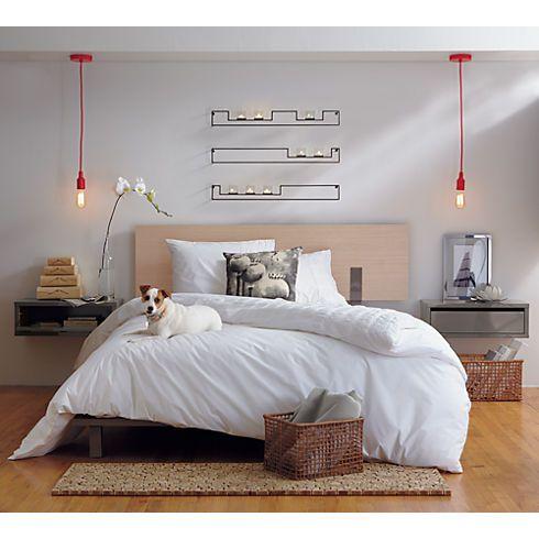 slice grey wall mounted storage shelf in bedroom furniture   CB2