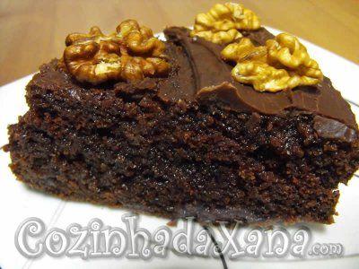 Bolo úmido de chocolate: Chocolate Cake, Chocolates, Bolos De Chocolate