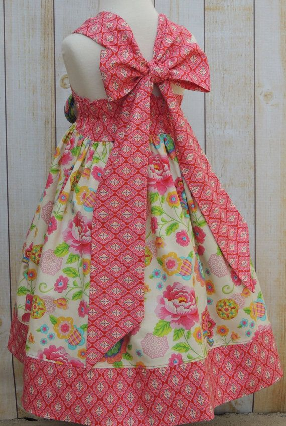 Girls Gypsy Reverse Knot Dress 12 Months 8 by MarieVivDesigns