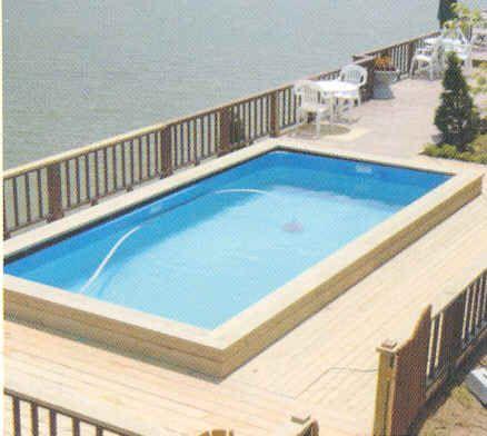 Pool U0026 Backyard Designs: Marvelous Modern Minimalist Wooden Deck Portable  Pools Design, Backyard Design