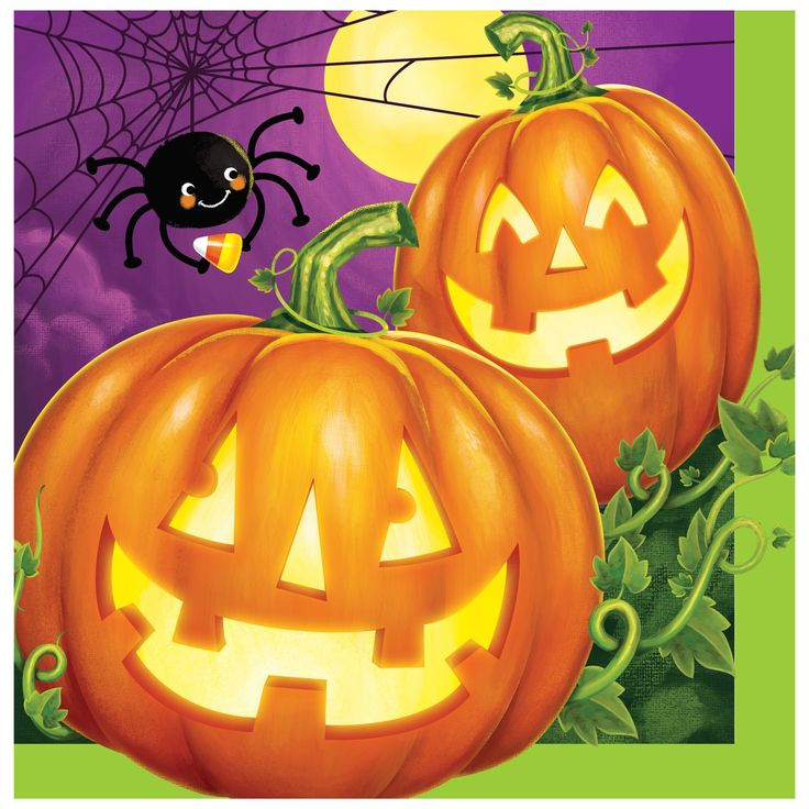 Pumpkin Patch Lunch Napkins/Case of 192