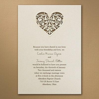 Laser Cut Latte Heart Ivory Wedding Invitations  Http://partyblockinvitations.occasions Sa