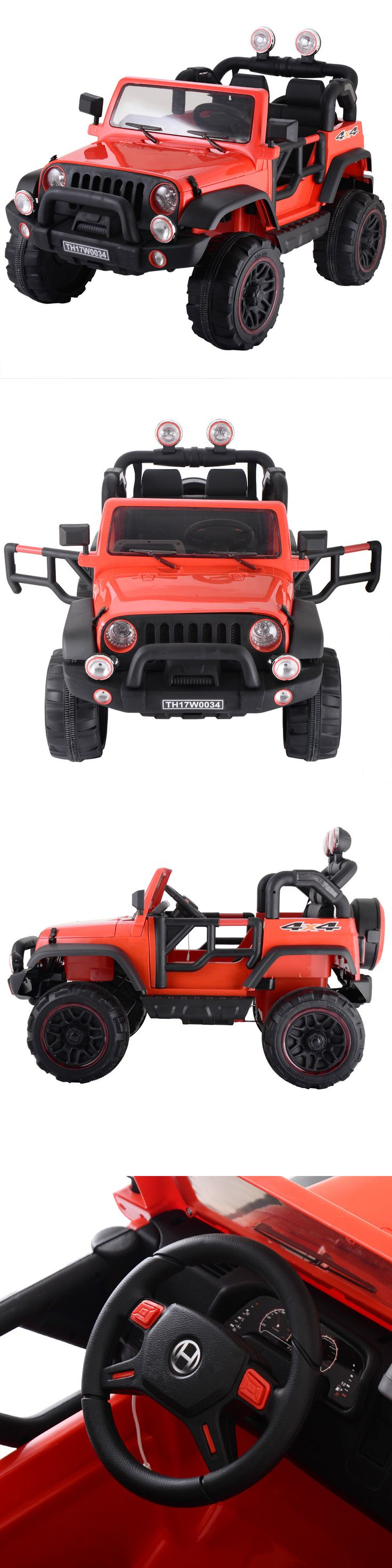 Ride On Toys and Accessories 145944: Jeep Car 12V Mp3 Kids Ride On Truck Rc Remote Control W Led Lights Music Red -> BUY IT NOW ONLY: $249.99 on eBay!