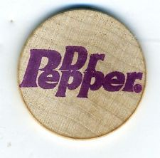 Dr Pepper Token Wood Good For Ice Cream Cone Advertising Like Wooden Nickle