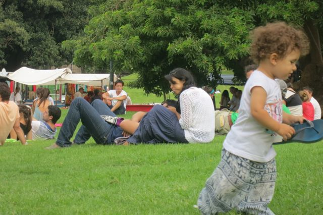 Fun in the park in downtown Buenos Aires