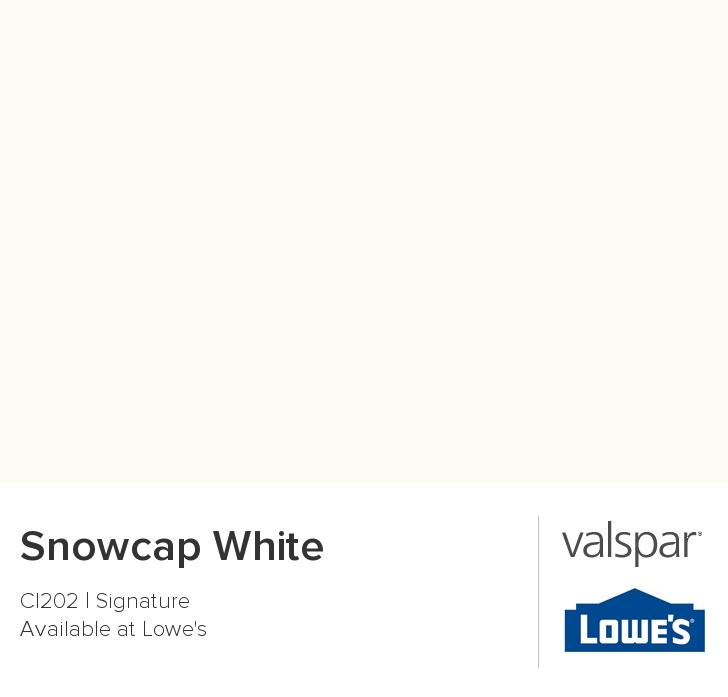Snowcap White From Valspar Redooooo Valspar Paint