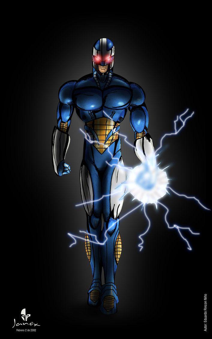 Metall Force, diseño de personaje superheroe