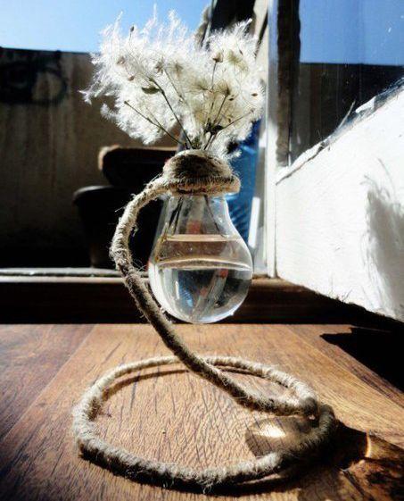 Мини ваза из лампочки