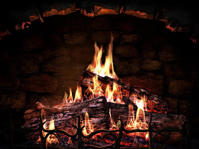 My favourite place to start decking the digital halls: the Fireplace 3D Screensaver & animated wallpaper http://www.3planesoft.com/fireplace-screensavers/fireplace-3d-screensaver/ Don't have a hearth to tuck in a yule log? This is a beautiful alternative, right down to the crackles and pops. Even if you don't register it, the animated wallpaper remains on your desktop, burning brightly, warming up a dark room at night. Just add music and you've got the perfect Christmas Eve.