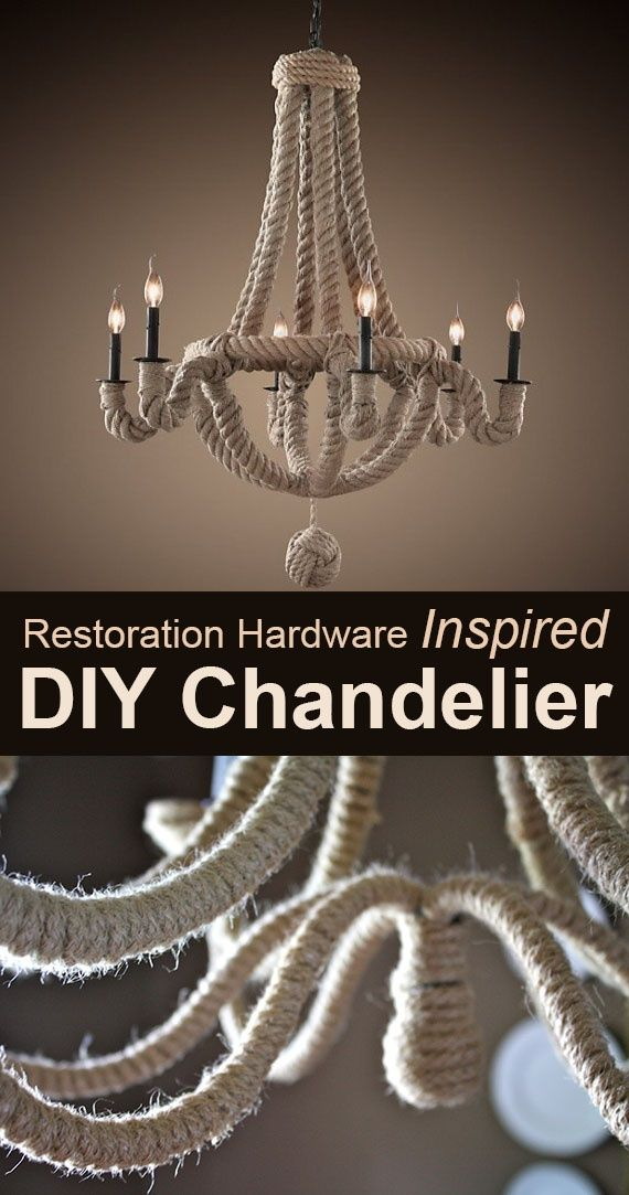 Restoration Hardware Inspired DIY Chandelier