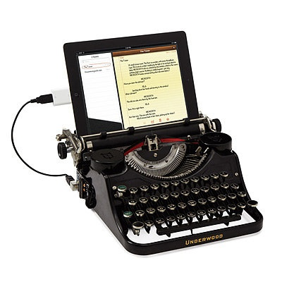 USB TYPEWRITER | electric type writer, typewriters | UncommonGoods... I TOTALLY NEED THIS