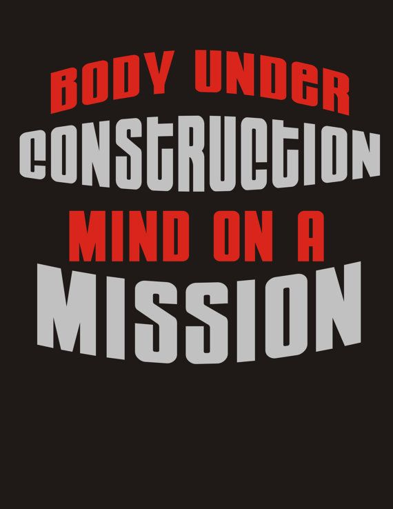 PERFECT WORKOUT SHIRT!!  Body under construction Workout Glitter Bling T Shirt by BlingNInk, $25.00