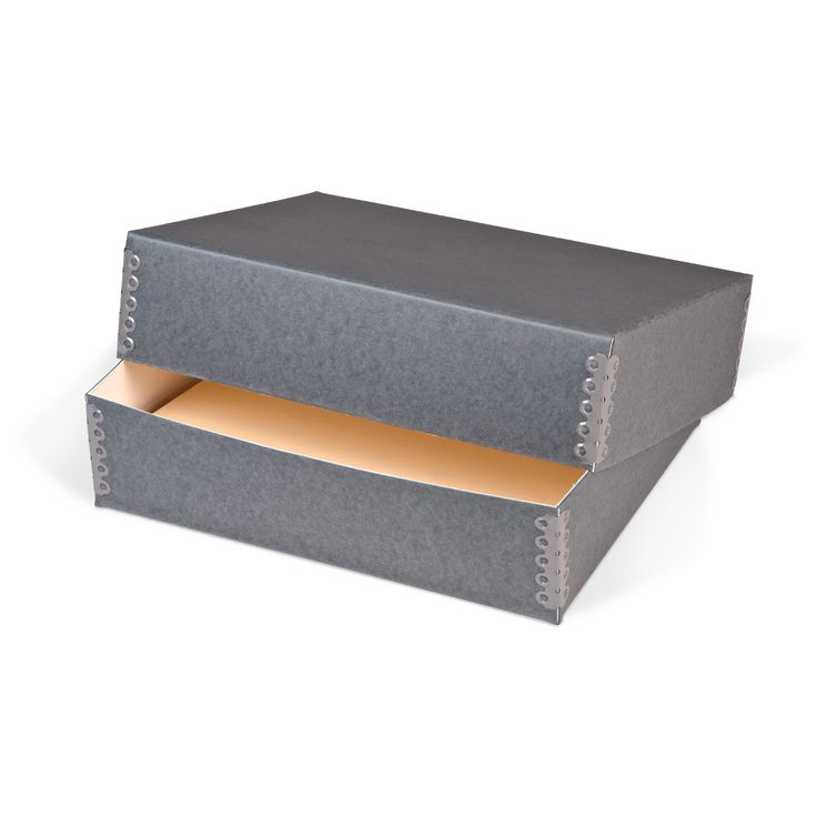 Gaylord® Blue/Grey Barrier Board Deep Lid Archival Print Box | Storage Boxes  |