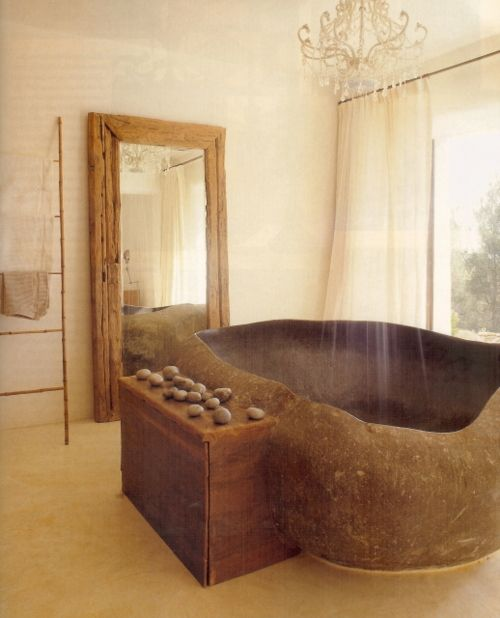 Bathing With Stones #Feng Shui #bathrooms #whitelotusfengshui  Http://patricialee.