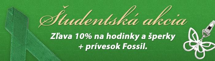 Študentská zľava - 10% + prívesok Fossil. 20.5. - 30.6. http://www.1010.sk/aktuality/studentska-akcia/