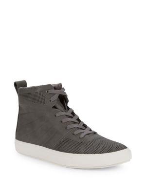 8934d8ea279 STEVE MADDEN Eskape Perforated High-Top Sneakers.  stevemadden  shoes