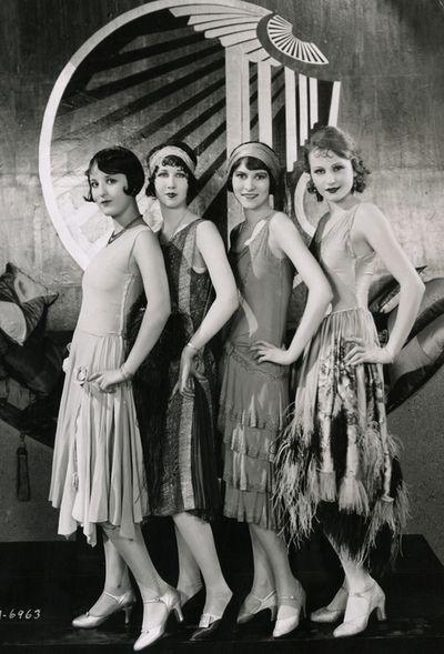 Gorgeous Chorus Girls on the set of Becky c.1927