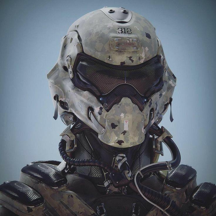 Save By Hermie Futuristic Helmet Helmet Concept Armor Concept