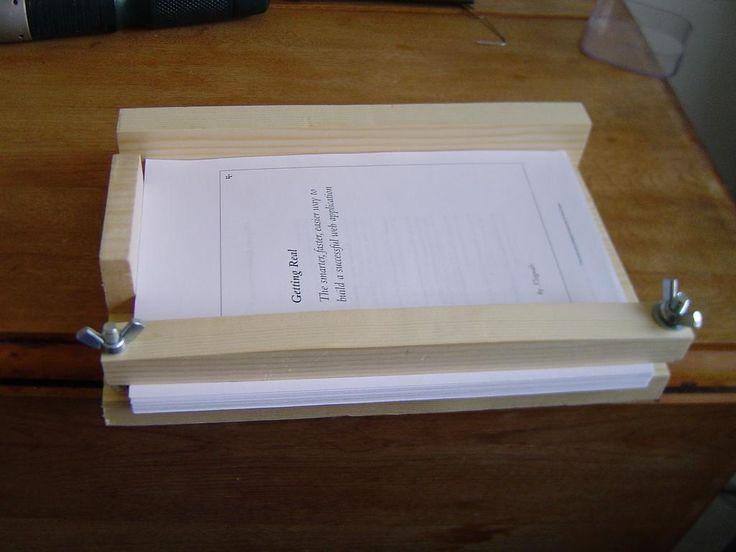 136 best encadernao images on pinterest book binding diy making a bookbinding jig solutioingenieria Image collections