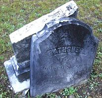 """Gravesite of Bathsheba Sherman, the evil witch from the true story of """"the Conjuring"""""""