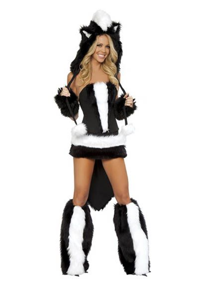 Luxurious Black and White Faux Fur Furry Costumes Sexy Halloween Costumes Sexy Cosplay Animals Costumes for Women L1317 #Affiliate
