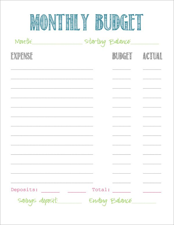 best photos of simple budget template simple budget template