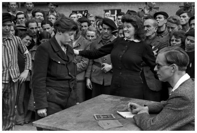 Στρατόπεδο διέλευσης πολιτών μεταξύ Σοβιετικής και Αμερικανικής ζώνης 1945