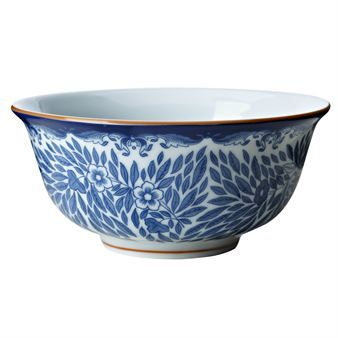 The bowl is part of Rörstrands porcelain series Ostindia Floris that is created by Caroline Slotte and Anna Lerinder. The series is a renewal of Rörstrands old porcelain series Ostindia where the designers have worked with the classic pattern and created a whole new series.