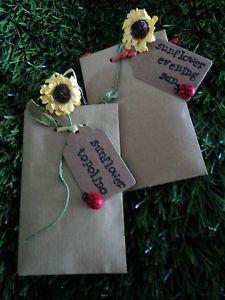 Personalizado-Rustico-Boda-partido-esta-a-favor-de-semilla-de-girasol-Ladybird-Sobres-De-Regalo