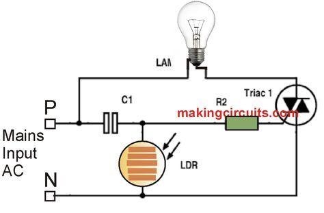 automatic night light circuit diagram pdf