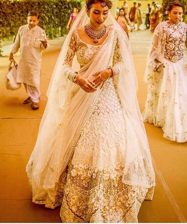 White never looked so good Lehenga