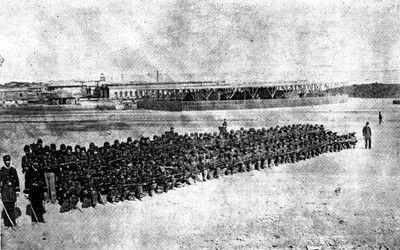 Batallón Cívico de Artillería Naval en Antofagasta el año 1879