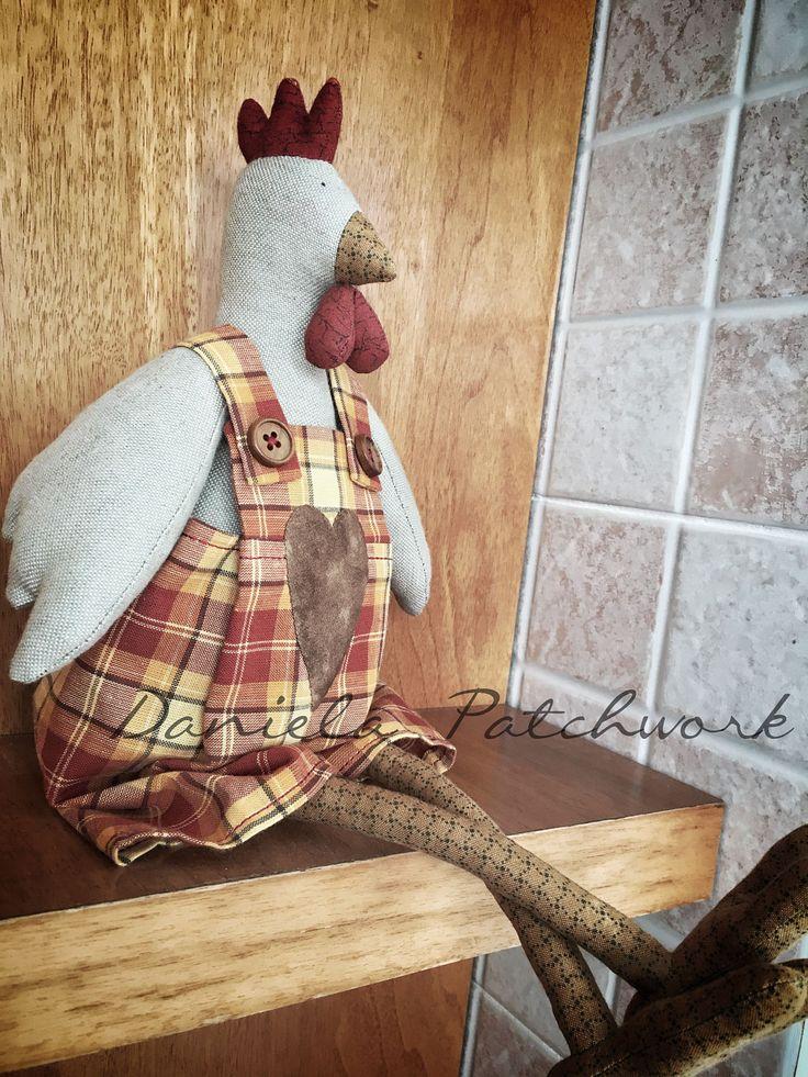 Tilda doll, Gallina Tilda, Bambola country, Bambola di stoffa, Tilda, Decorazione cucina , Home decor , Decorazione Pasqua. di DanielaPatchwork su Etsy