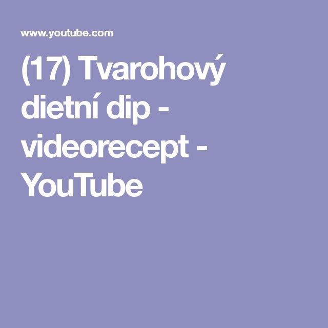 (17) Tvarohový dietní dip - videorecept - YouTube
