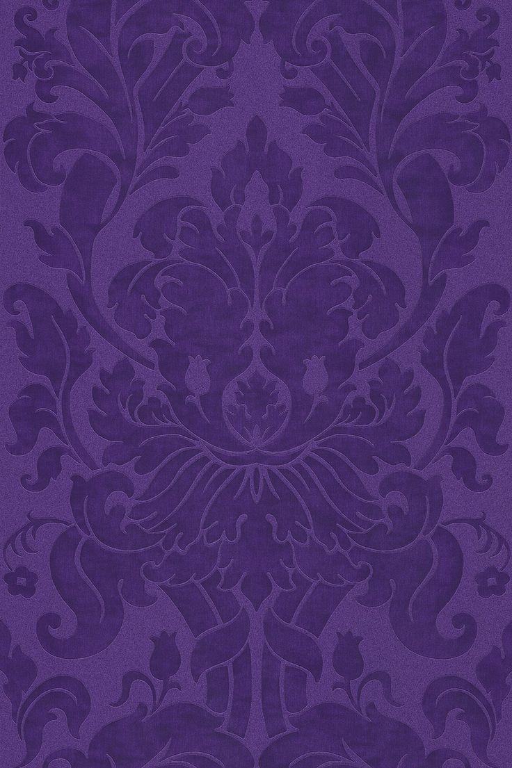Vliestapete barock lila tapete rasch en suite 546460 for Tapeten in lila