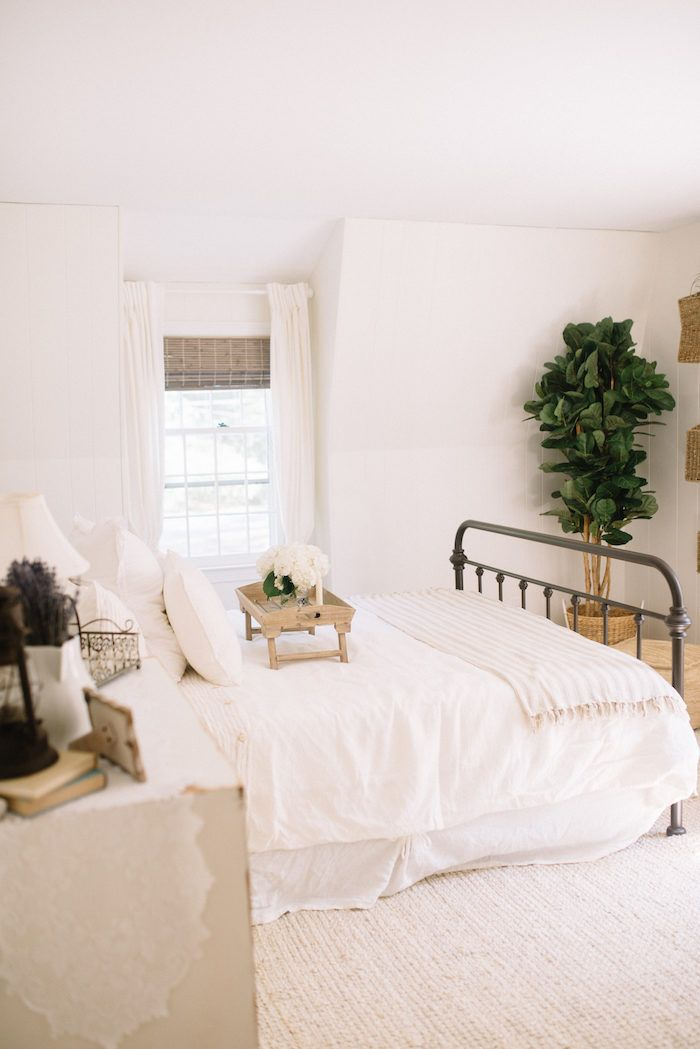 Farmhouse Guest Bedroom Ideas // Our Farmhouse Guest Bedroom Features A  Bright Neutral Room With Jute Accents   Interior Decor Luxury Style Ideas    Home ...