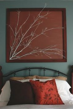 diy wall art with tree branch - Google Search