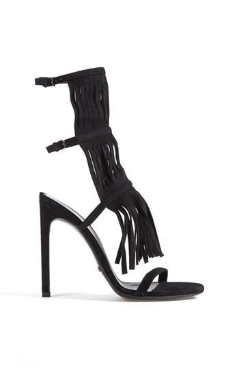 Hot! Gladiator inspired sandal with fringe detail and a high heel | Gucci