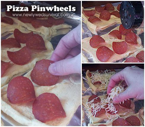 Super Skinny Pizza Pinwheels Recipe — Dishmaps