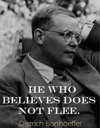 Dietrich Bonhoeffer - The theologian was arrested in April 1943 by the Gestapo and executed by hanging in April 1945 while imprisoned at a Nazi concentration camp, just 23 days before the German surrender.