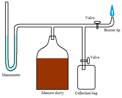 Making methane from chicken manure