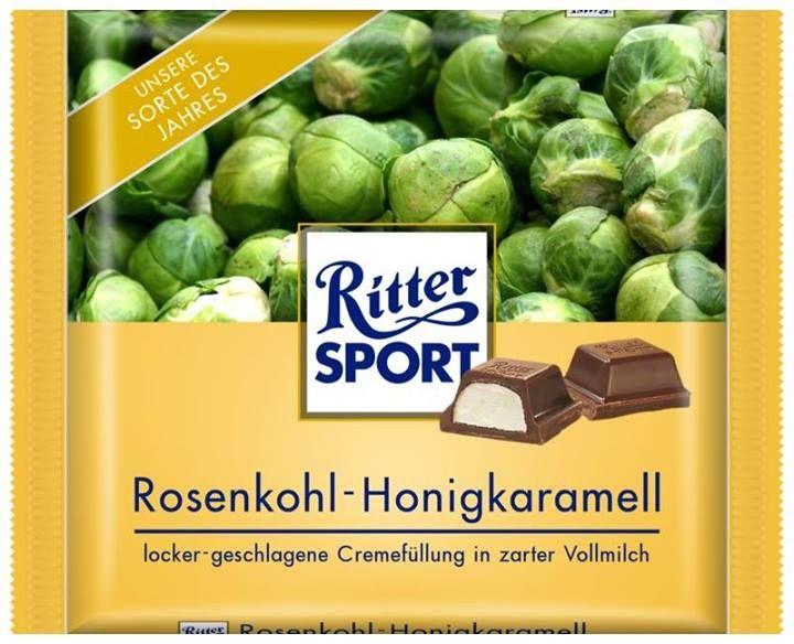 RITTER SPORT Fake Schokolade Rosenkohl-Honigkaramell
