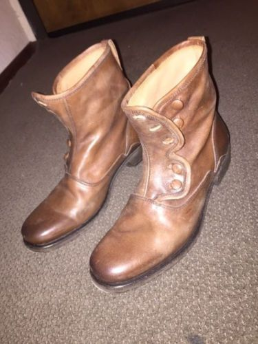 John-Varvatos-Mens-Bowery-Leather-Boots-Size-8-5-mens-brown-boots