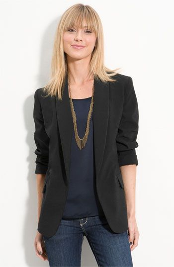 A simple 3-quarter sleeve blazer from Nordstrom BP...6 colors avail.