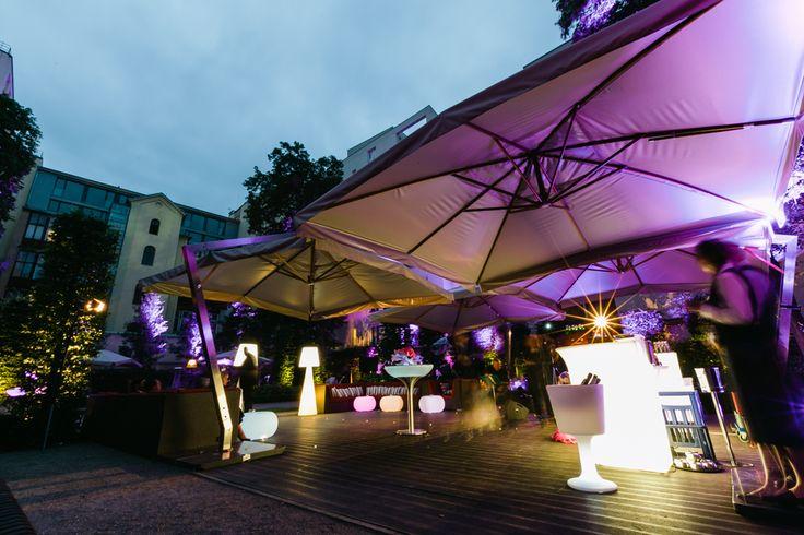 Garden party atmosphere in Prague