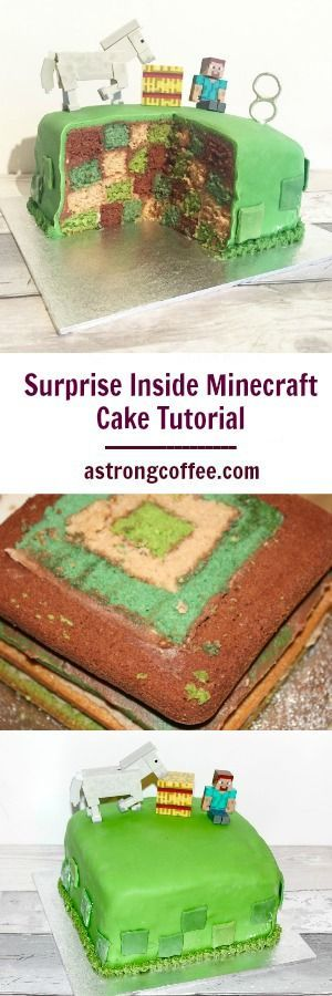 how to make an easy minecraft cake